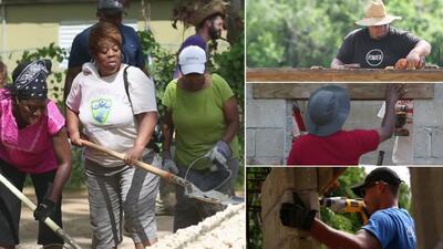 Voluntarios extranjeros reconstruyen comunidades destrozadas en Puerto Rico por el huracán María