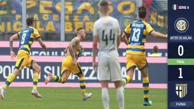 Inter pierde frente al Parma y llega hundido para medirse al Tottenham en Champions