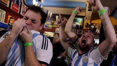 Así fueron los gritos enloquecidos de los hinchas argentinos tras el triunfo ante Nigeria