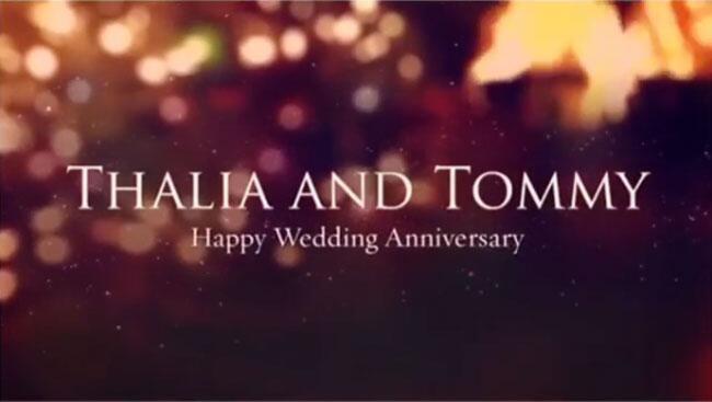 Thalia aniversario de bodas