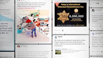 Más de 4 millones de tuits divulgaron mensajes antisemitas durante 2017, según reporte