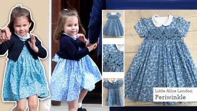 La princesa Charlotte provocó que se agotaran los vestidos azules iguale...