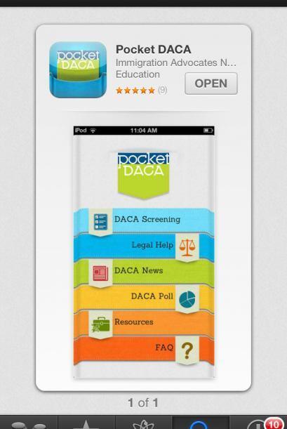 Descargue la aplicación Pocket DACA en su teléfono intelig...