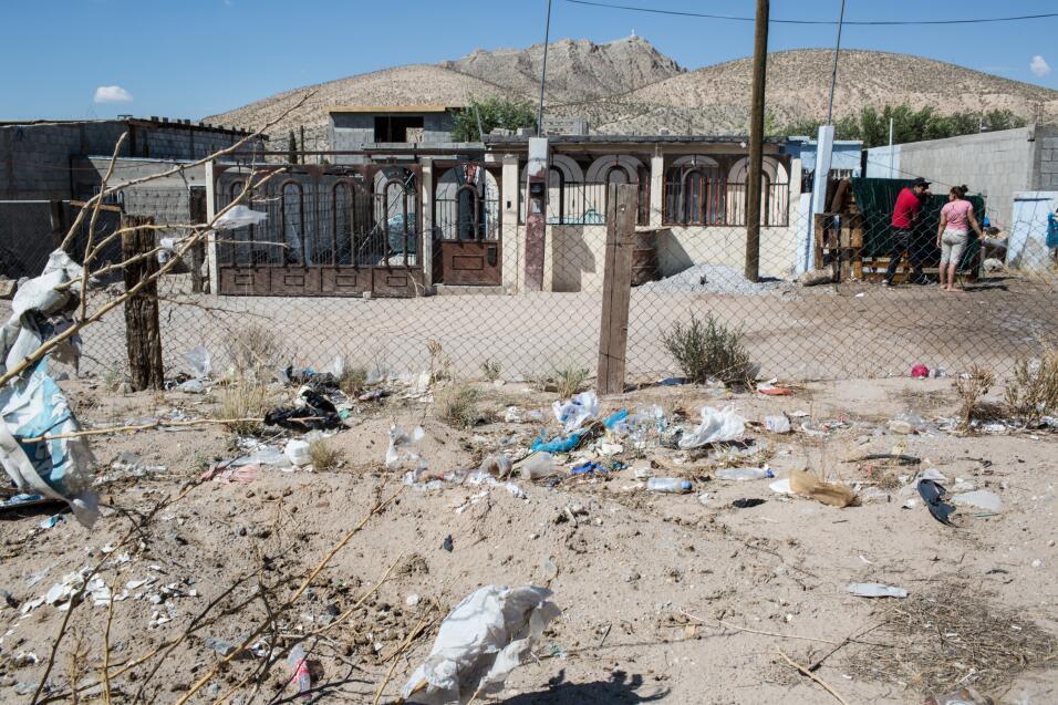 Anapra, una de las colonias pobres del norte de Juárez. Los investigador...