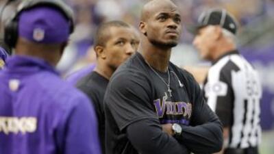 Adrian Peterson va bien en su rehabilitación (AP-NFL).