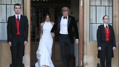 Así sí Meghan: su segundo espectacular vestido de novia (para la fiesta de boda) no decepcionó