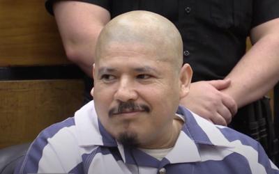Luis Bracamontes durante el juicio donde lo sentenciaron a pena de muert...