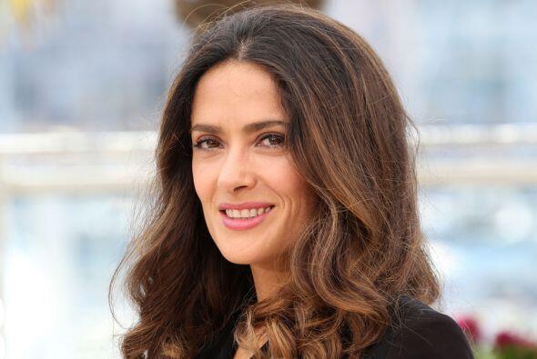 Otra de las bellezas nominadas es la actriz mexicana Salma Hayek.