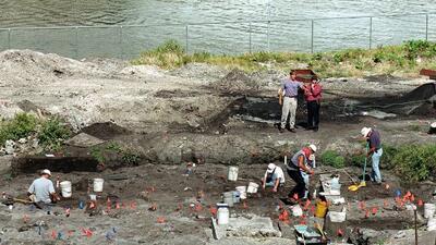 Una construcción en la desembocadura del Río Miami fue detenida en agost...