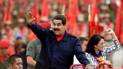 Maduro y esposa
