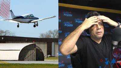 Omar relata su horrible experiencia en una avioneta