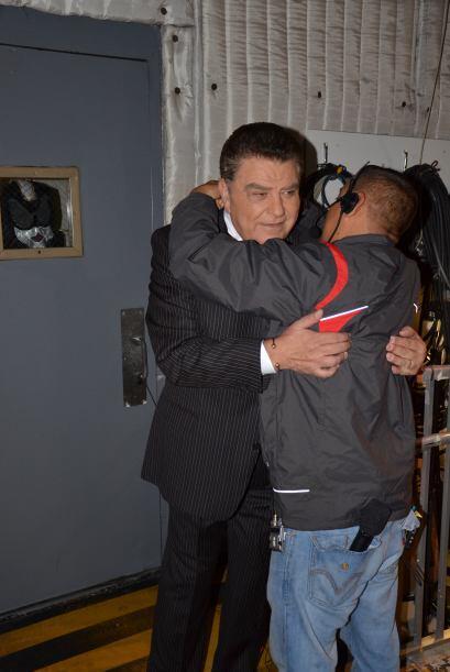 Incluso cuando las cámaras no estaban puestas hacia él, don Francisco si...