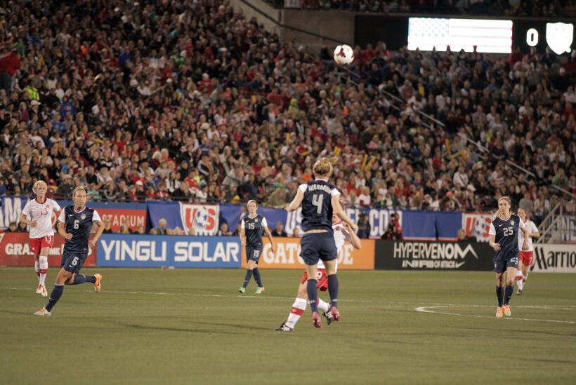 Es partido amistoso disputado en el Toyota Stadium en Frisco, USA gan&oa...