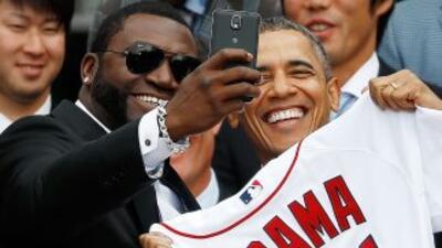 Laselfietomada por David Ortiz Big Papi, de los Red Sox de Boston junt...
