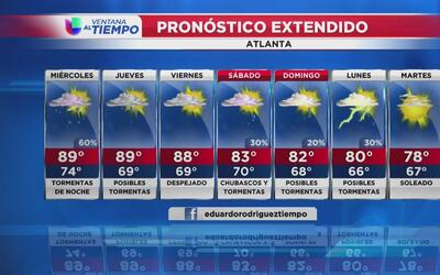 Atlanta registra un calor intenso este martes