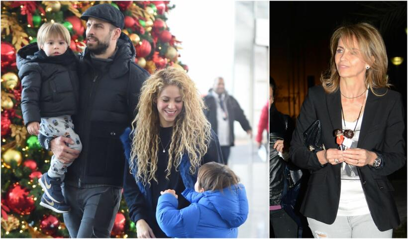 Shakira y su familia de vacaciones en Nueva York.