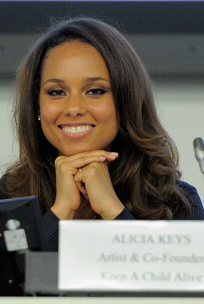 Alicia Keys ha sido una gran activista en contra del Sida desde que come...