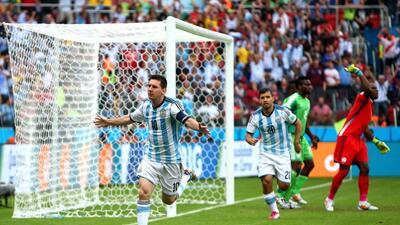 Argentina tiene dominio absoluto sobre Nigeria en Mundiales