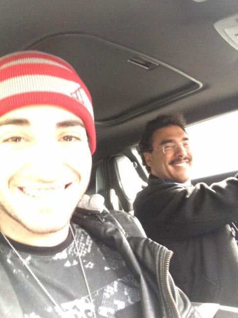 Eduardo Yáñez y su hijo