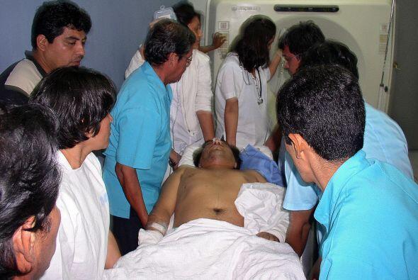El jefe de la policía de carreteras de Huarochirí, Yorvi Carbajal, infor...