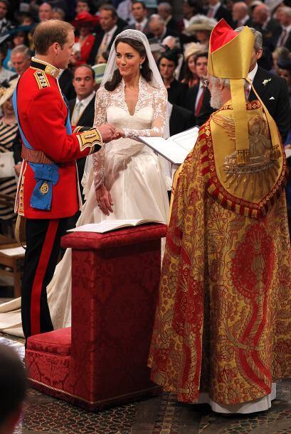 El momento más emotivo de la ceremonia fue sin duda el intercambio de an...
