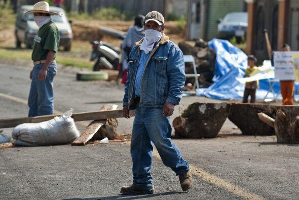 El conflicto en el municipio de Chéran, en Michoacán, se agrava cada día...