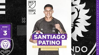 El colombiano Santiago Patiño logró ser la tercera selección general en el SuperDraft de la MLS 2019