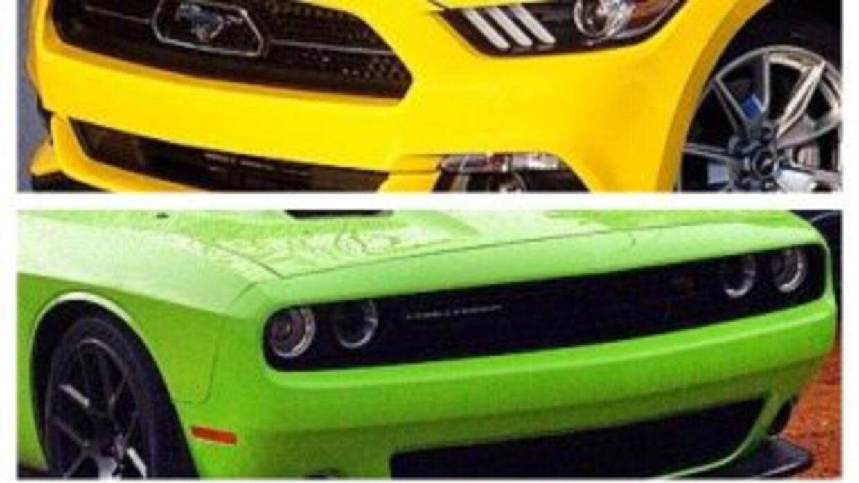 Ford Mustang, Dodge Challenger y Chevrolet Camaro