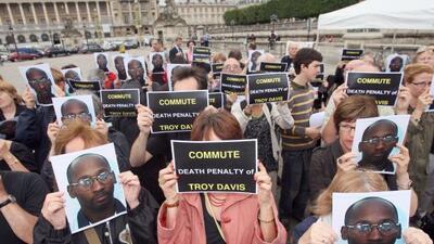 Simpatizantes de Troy Anthony Davis, le han solicitado a las autoridades...