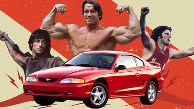 El día que Rambo, Arnold Schwarzenegger y Bruce Jenner salvaron al Ford Mustang