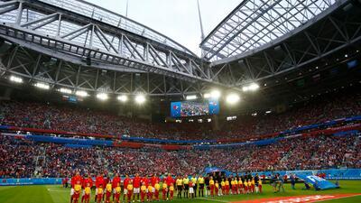 En fotos: Rusia y Egipto disputan su segundo encuentro del Mundial