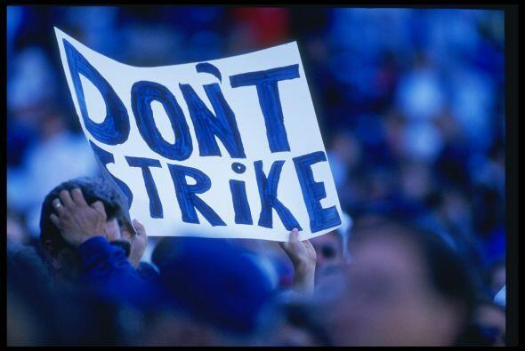 En 1994 los beisbolistas decidieron entrar en paro debido a las condicio...
