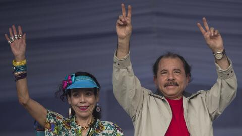 El líder sandinista eligió a su esposa, Rosario Murillo, c...