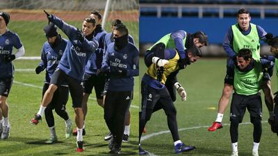 Frío y buen ánimo en práctica de Real Madrid para final de Mundial de Clubes