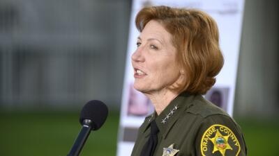 Sandra Hutchens, sheriff del condado de Orange