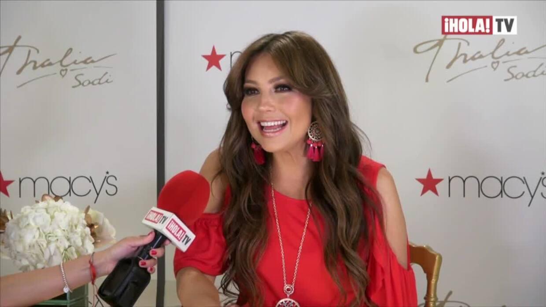 Thalía viste su propia marca y busca que las latinas la lleven también