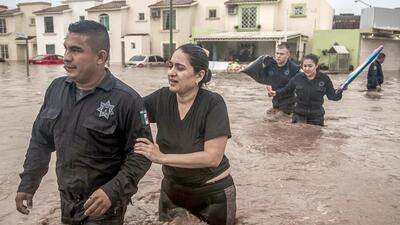 El noroeste de México bajo las aguas: depresión tropical deja severas inundaciones en Sinaloa y Sonora (fotos)