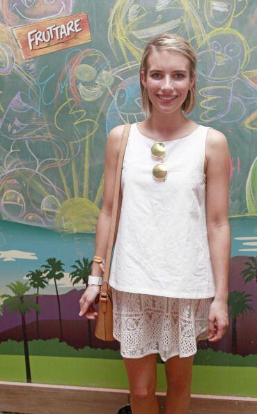 La sobrina de Julia Roberts, Emma Roberts, también optó por este tono pa...