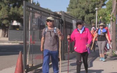 Caminan 46 millas en California para pedirle a Trump una reforma migratoria