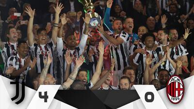 Juventus venció al Milan y conquistó la Copa Italia
