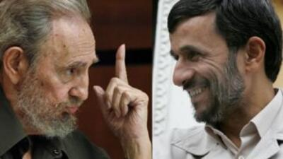 Fidel Castro y Mahmud Ahmadineyad