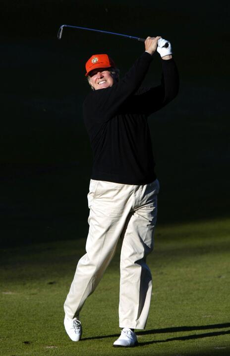 Amante del golf –y de los campos de golf como negocio–, Donald Trump da...