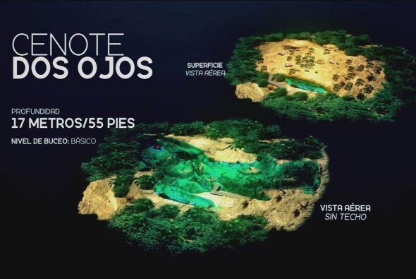 El Cenote Dos ojos se comenzó a explorar en 1986, hasta el momento sólo...