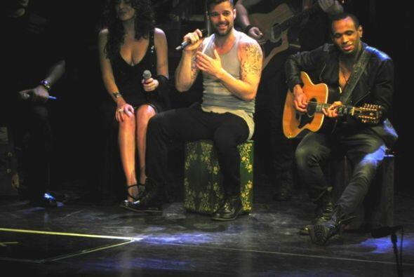 Los músicos de Ricky Martin forman parte importante del show.