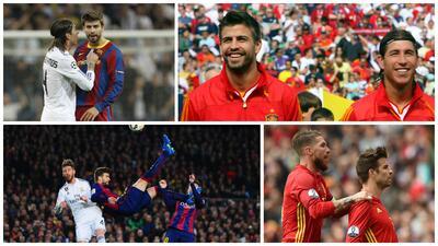 Amigos y Rivales, en mundos desiguales: Ramos y Piqué