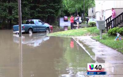 Las lluvias provocan serias inundaciones en Raleigh
