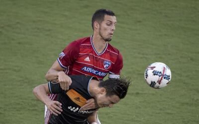 Cubo Torres, Matt Hedges FC Dallas vs. Houston Dynamo
