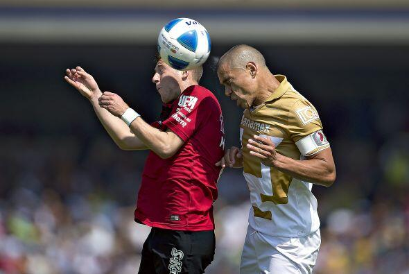 Anotó su gol al minuto 34 en remate con la cabeza, no recibió ninguna ta...
