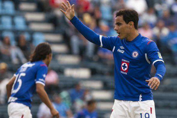 En 36 partidos en los cuales tuvo actividad con el Cruz Azul Omar Bravo...