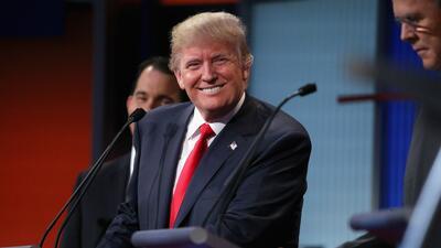 Donald Trump en el debate de los candidatos republicanos.